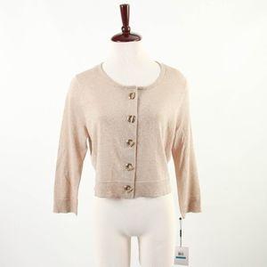 NWT CALVIN KLEIN – Gold Cardigan Sweater – L
